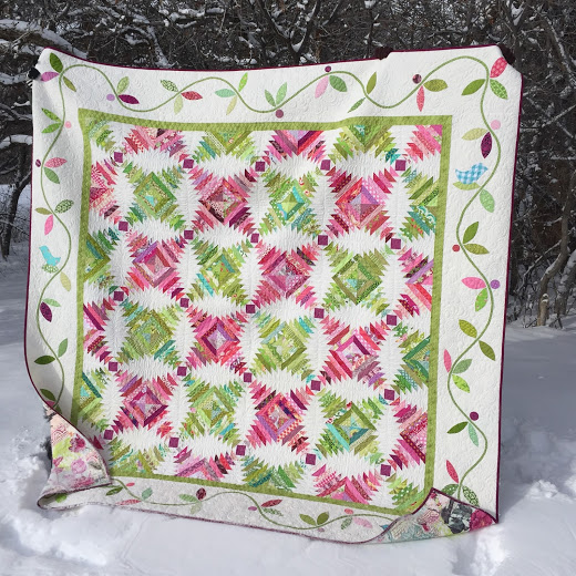 Pineapple Block Paper Piecing Quilt designed by Amber Johnson of Gigi's Thimble