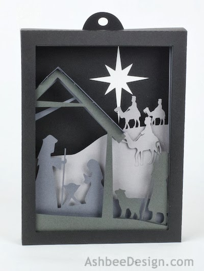 Ashbee Design Silhouette Projects 3d Nativity Shadow Box