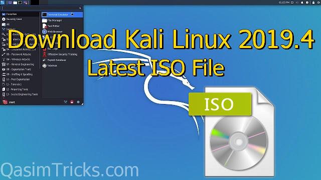 Download Kali Linux 2019.4 ISO - QasimTricks.com