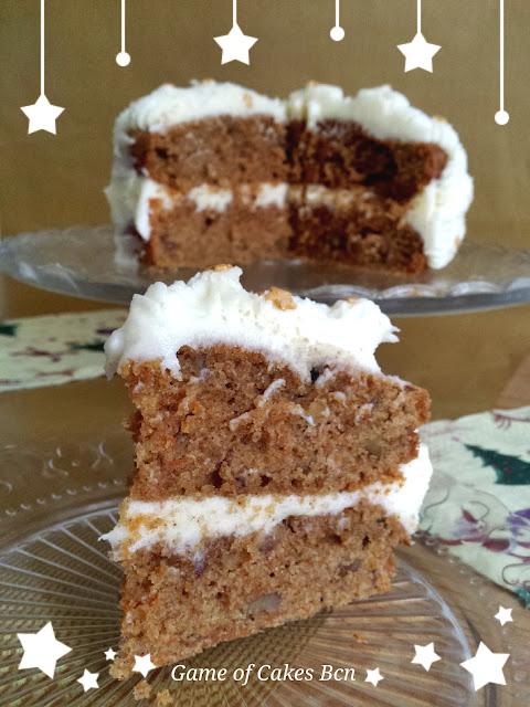 Carrot cake especiado tarta de zanahoria para navidad
