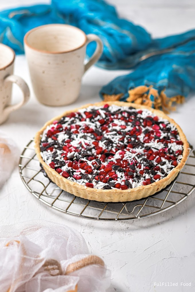 Delicious Chocolate Pomegranate Tart