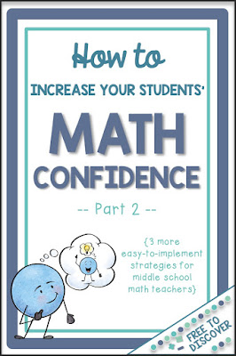 How to Increase Your Students' Math Confidence {Part 2}
