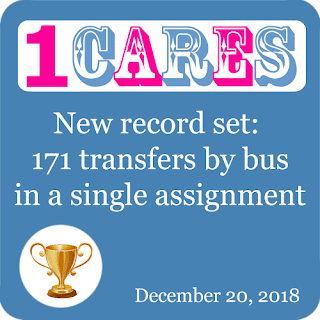 New record achieved in bus hire: 171 transfers by bus in a single assignment