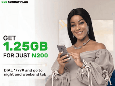 Glo 1.2gb for 200 Sunday Plan Activation Process