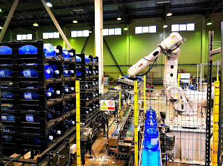Robotic Prostack Rack Loading of 19 liters 5 Gallon Water Bottles