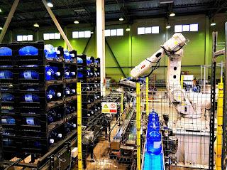 Robotic Prostack Rack Loading of 19 liters 5 Gallon Water Bottles
