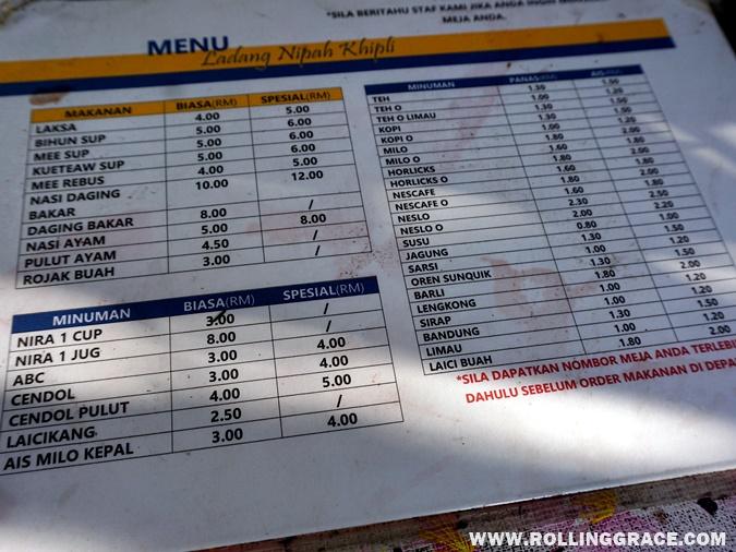 harga makanan Ladang Nipah Kipli, Sanglang, Perlis