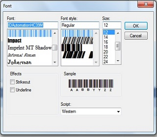 Font for Barcode | Barcode Font