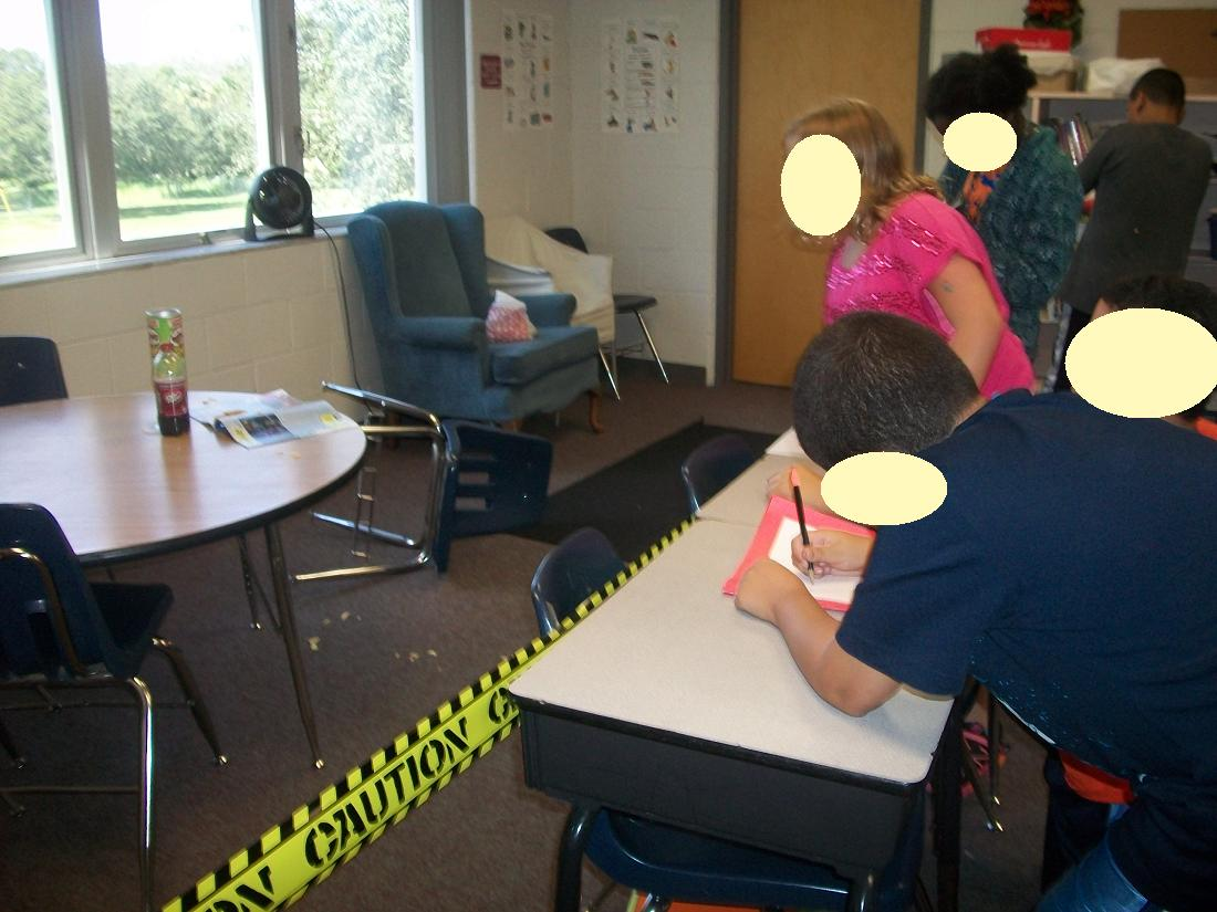 Teaching Star Students Classroom Crime Scene