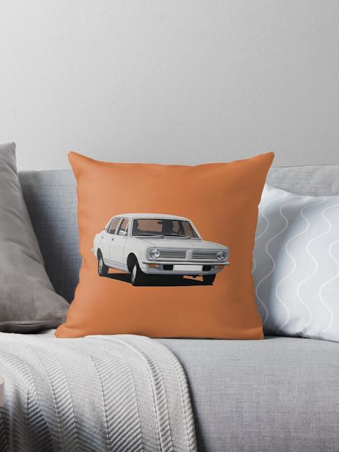 Morris Marina themed home decor - pillow - white