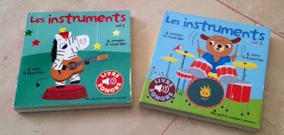 Les instruments - volumes 1 et 2 - Mes petits imagiers sonores - GALLIMARD JEUNESSE