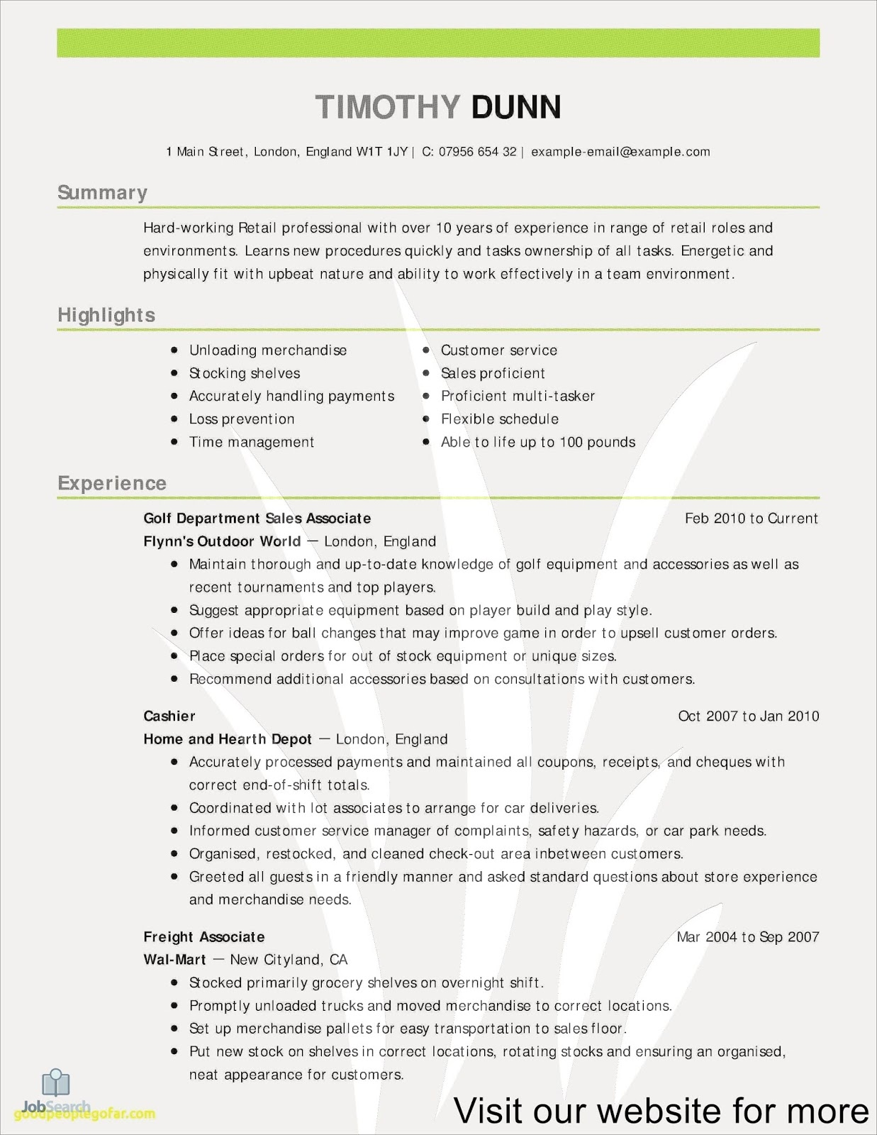 Great Customer Service Resume Examples 2020 Resume Templates