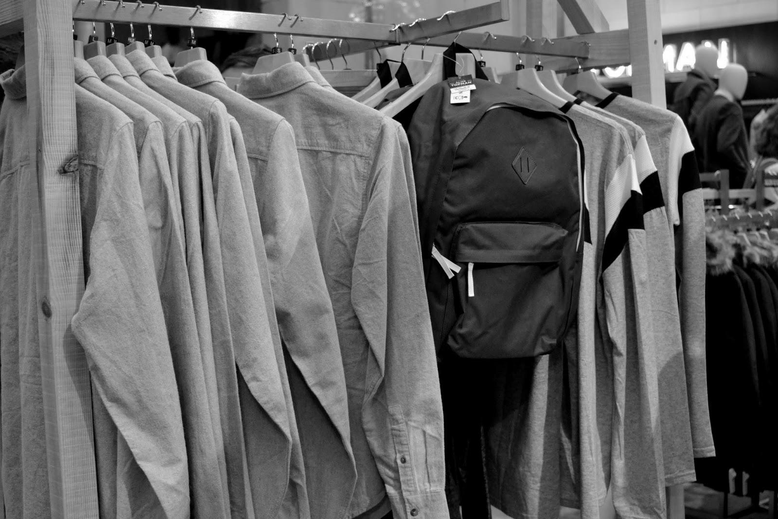 jacken kleiderstange topmen topshop