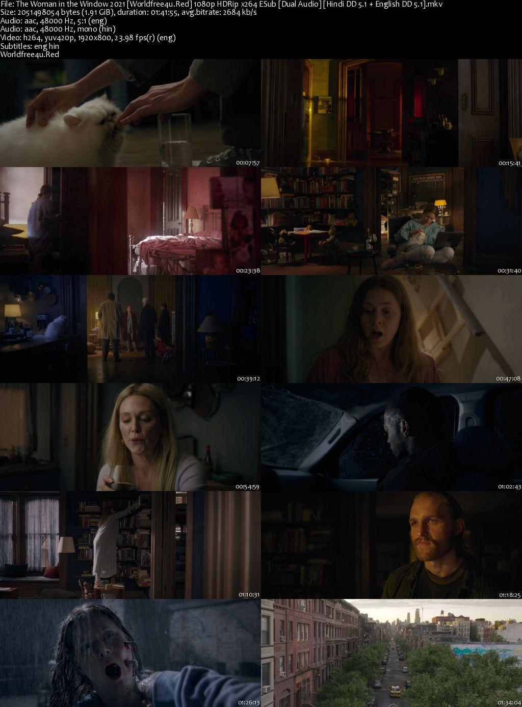 The Woman in the Window 2021 HDRip 1080p Dual Audio