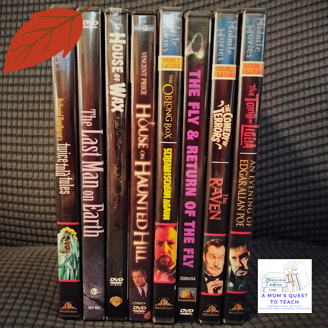 A Mom's Quest to Teach:  October Movies: Making a Plan for Fall Evenings - Vincent Price DVD boxes