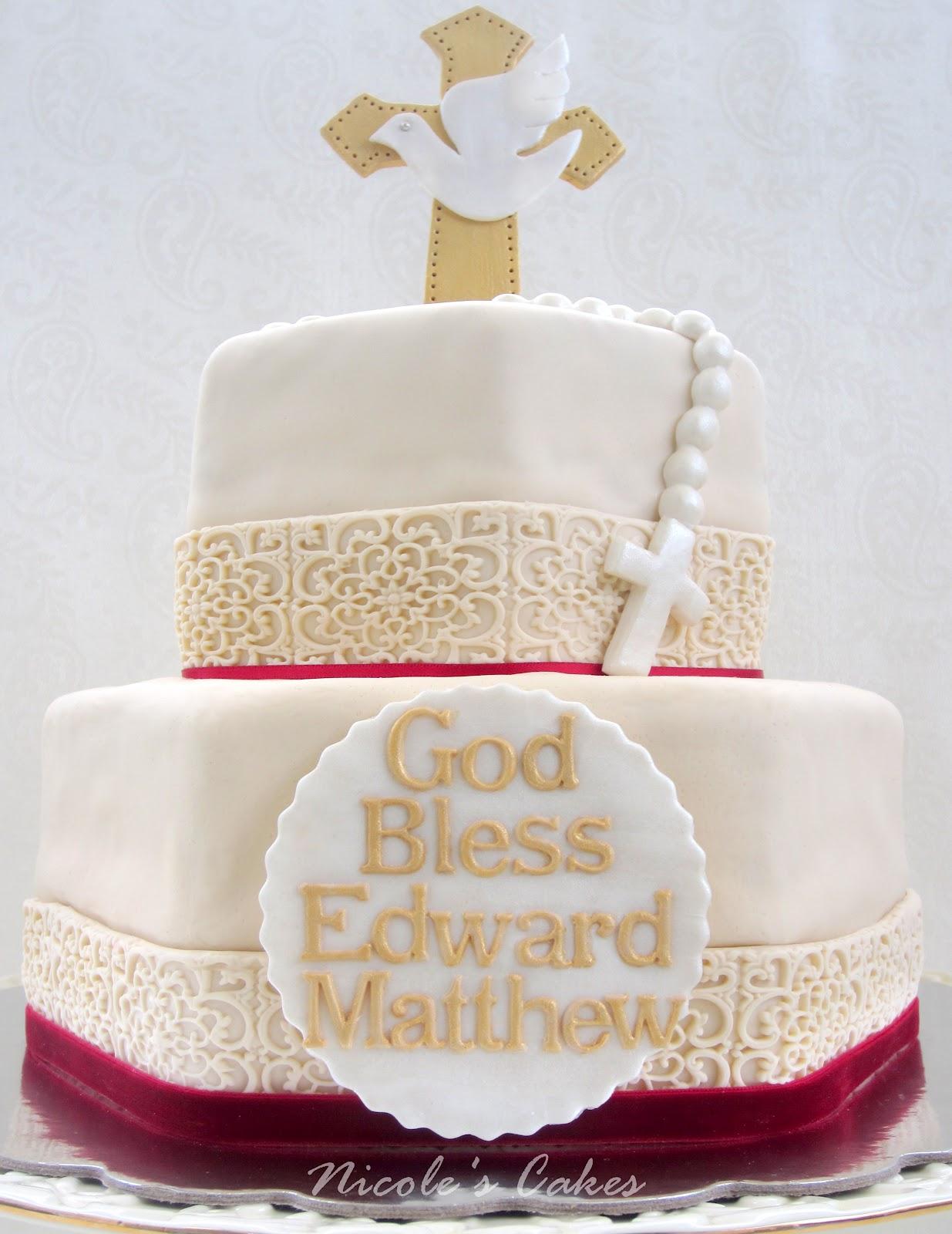 On Birthday Cakes Elegant Confirmation Cake