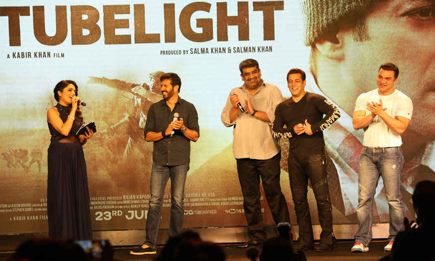 Salman, Matin Rey Tangu and Kabir Khan 'Tubelight ki Night' Promotional Event