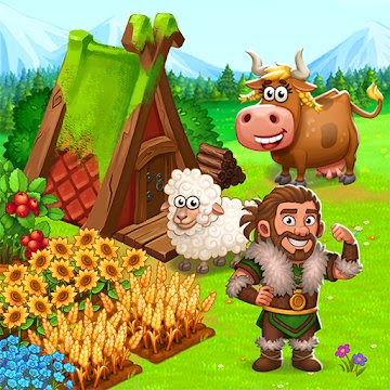 North Dragon Island – build Vikings Farm (MOD, Unlimited Money) APK Download