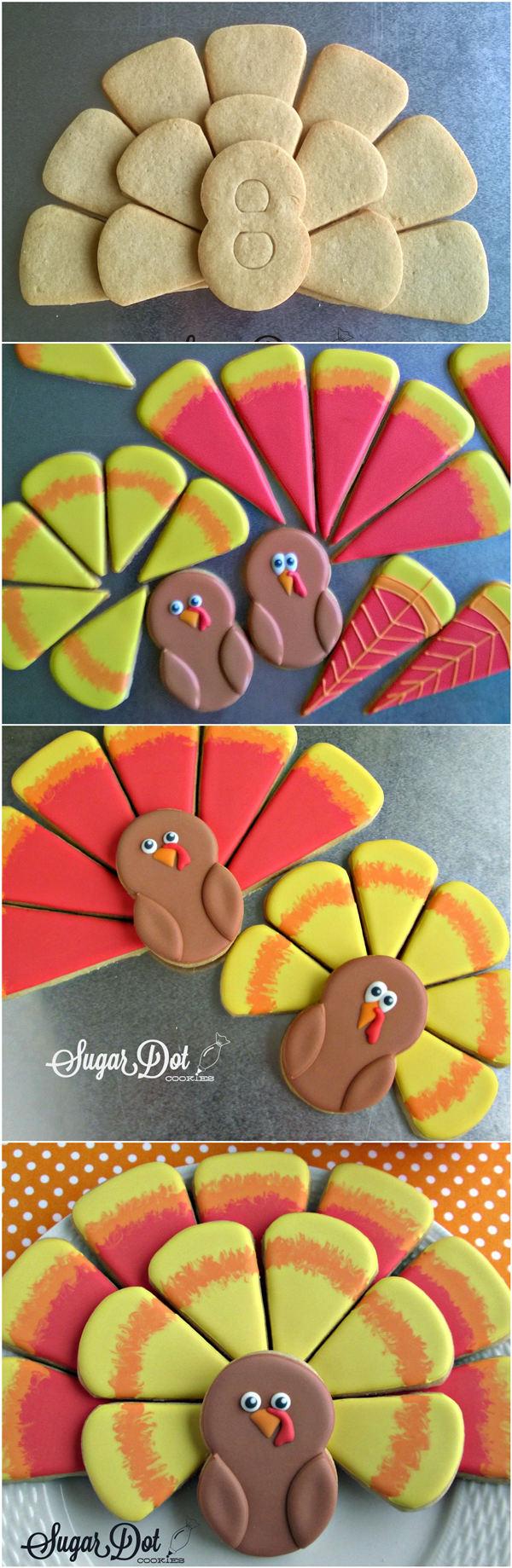 Thanksgiving Turkey Cookie Platter