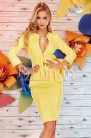 Costum dama galben elegant (Atmosphere)