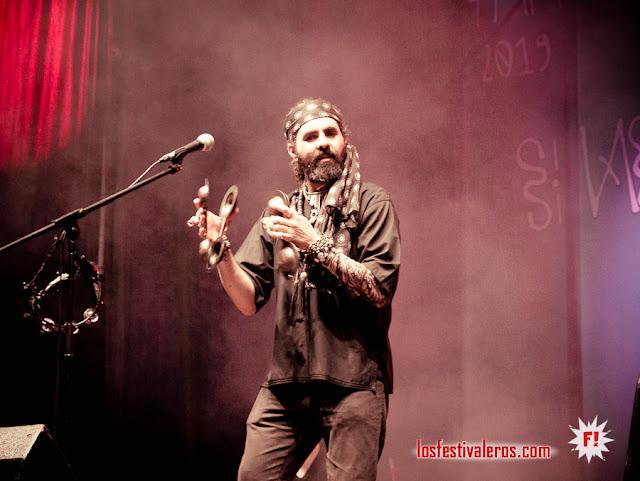 Jaouad El Garouge, vocalista, Al-Qasar, FMM Sines 2019