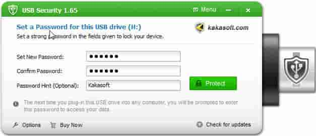 cara memberi password pada flashdisk