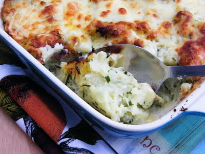 Rumbledethumps or Scottish Potato & cabbage Pie - Step five - bake and serve