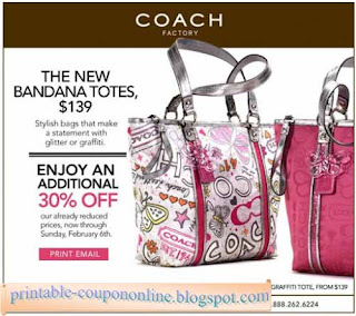 Free Printable Coach Coupons