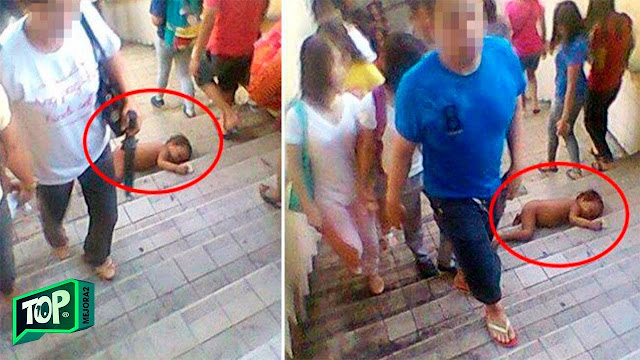 Этот малыш лежал голый на ступеньках и не двигался… А люди с безразличием проходили мимо!