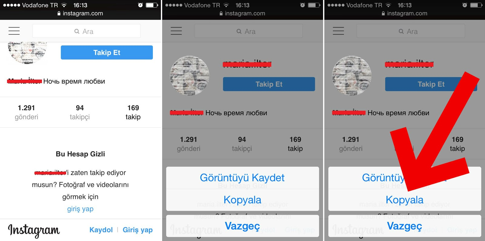 Instagram - Gizli ve Kapalı Profil Görme!