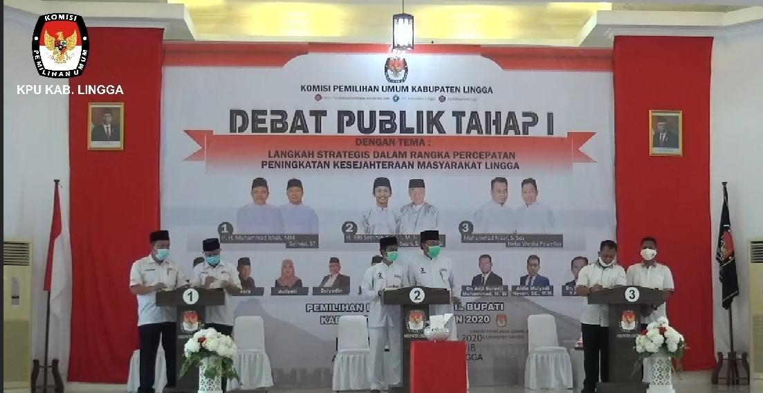 Debat Publik Pilkada, Ini Visi dan Misi Yang Disampaikan Tiga Paslon  Bupati dan Wakil Bupati Lingga