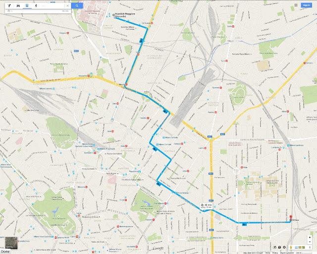 Milan Tram 5 route via Ca Granda, Istria, Marche, Milano Centrale, Giardini Pubblici, Corso Buenos Aires