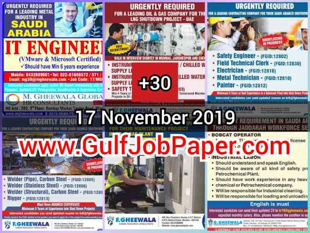 Gheewala Upcoming Gulf Jobs Interview_Mumbai