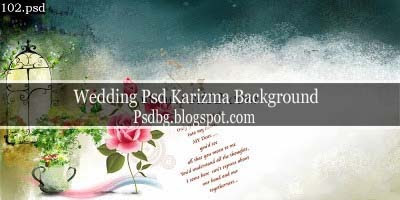 Wedding Photo Album Background Psd
