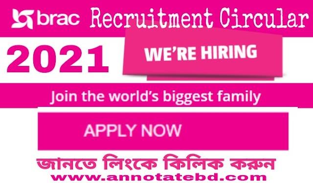 Brac Recruitment Circular 2021