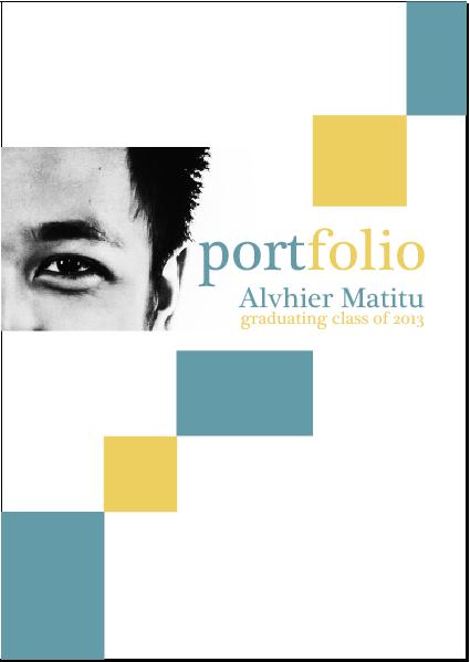 career portfolio cover page example