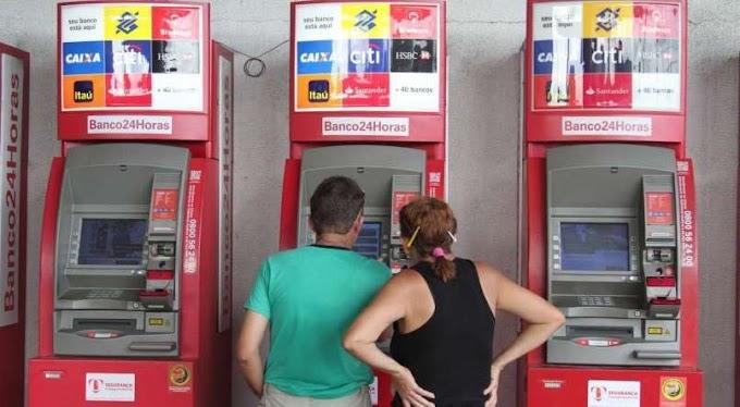 Auxílio de R$ 600 poderá ser sacado em caixas do Banco24Horas