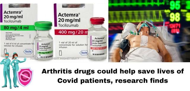 Arthritis drug found to cut deaths in severe covid-19