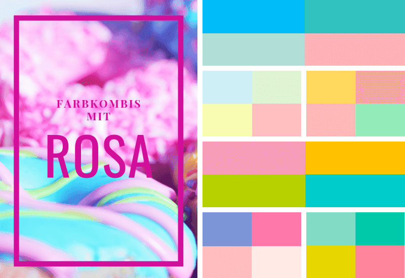 Rosa-kombinieren-Farbschema-Pastell-Farben