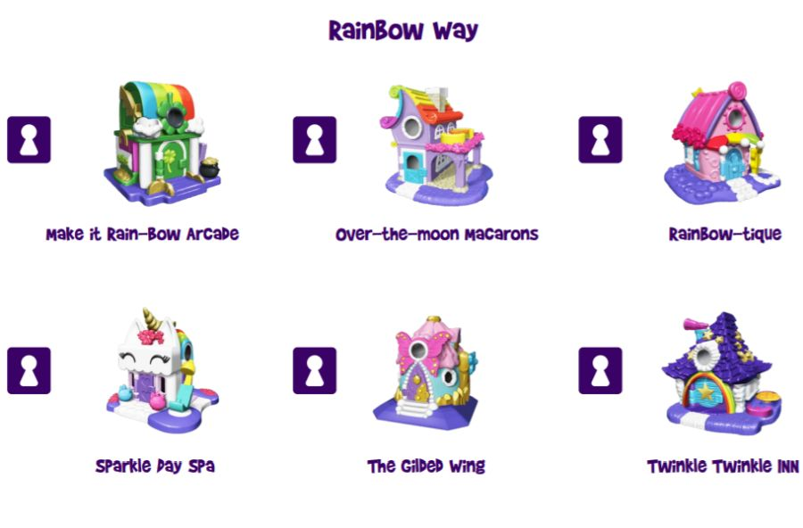 Rainbow Way mini houses to play