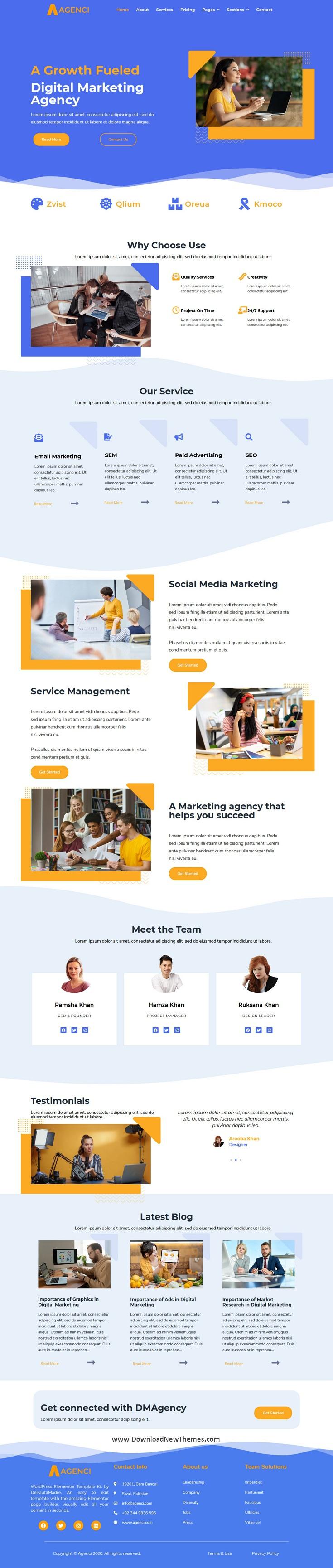 Digital Marketing Agency Elementor Template Kit