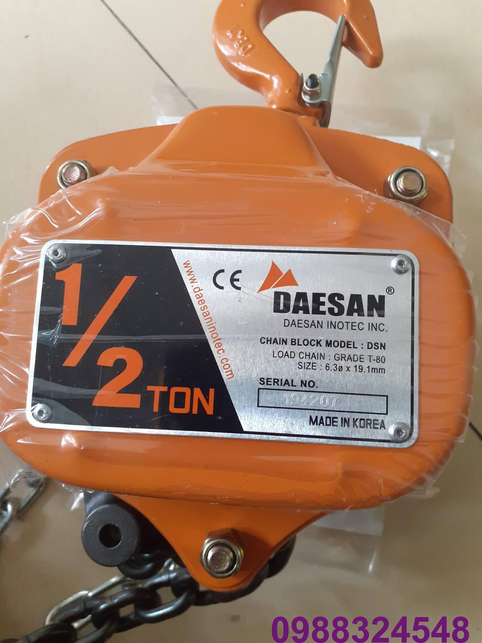 Pa lăng kéo tay Daesan DSN-0.5 500kg