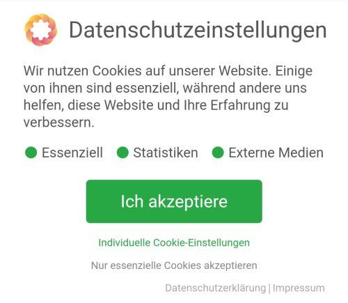 Cookie-Urteil konformer Word-Press Cookie-Banner
