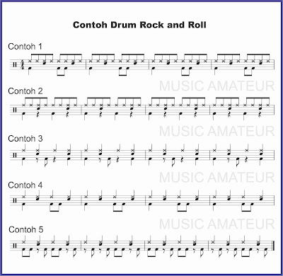 contoh beat drum musik rock and roll