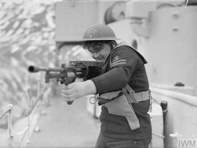Naval exercises aboard HMS Wheatland, 15 April 1942 worldwartwo.filminspector.com