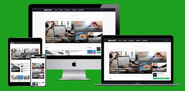 Magify - Responsive News & Magazine Blogger Template Preimum Version [Nulled]