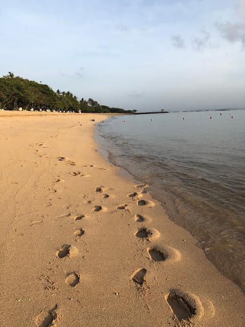 Morning stroll at Nusa Dua Beach, Bali