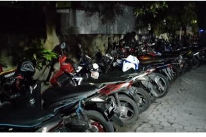 Razia Balap Liar Polres Kediri Amankan Puluhan Motor
