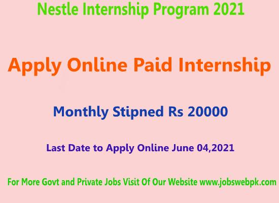 Nestle-internship-program-2021-Pakistan-Paid-internship