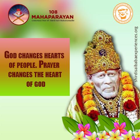 Effect Of Prayer - Sai Baba Idol Image